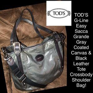 TOD'S G-Line Easy Sacca Grande Tote Crossbody Bag!